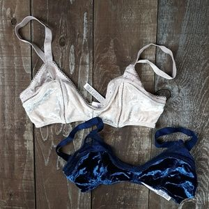 Victoria's Secret Velvet Lace 2 Bra Set